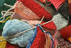 Knit or crochet baby blankets to give away to hospitals