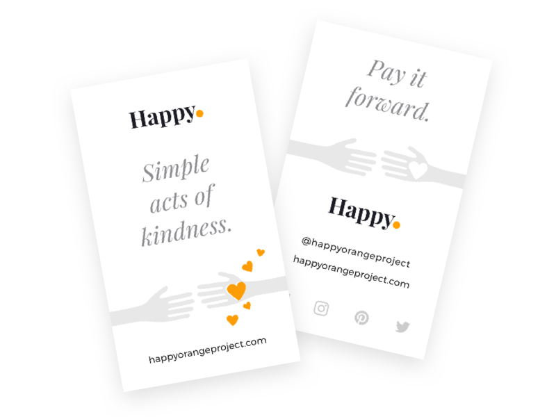 Happy Orange Project Kindness Cards